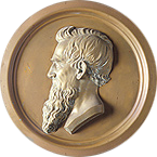Coin with the silhouette of the founder of Cornell University, Ezra Cornell